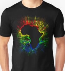 African Continent,South African Flag Colours Unisex T-Shirt