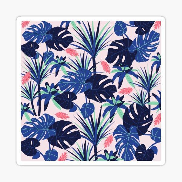 Pink Bold Blue Foliage Sticker