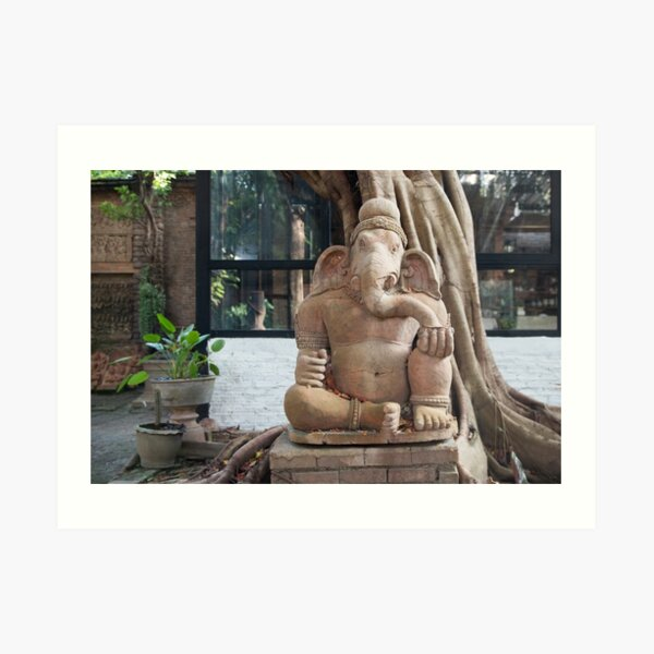 Ganesh in the Terracotta Museum in Chiang Mai Art Print