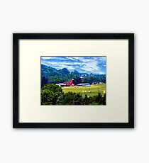 Farm in the Distance Framed Print