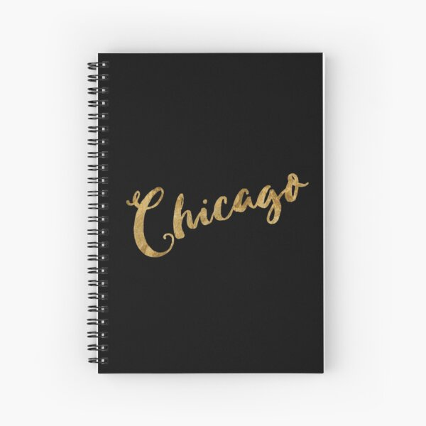 Golden Look Chicago Spiral Notebook