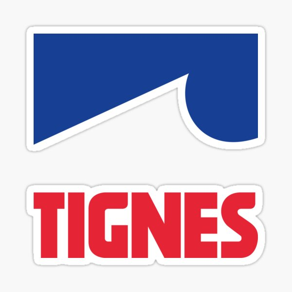 Love Skiing French Alps Tarentaise France Ski resort Tignes - Val d Isere Sticker