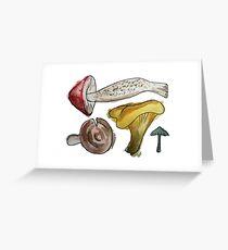 Mushroom Tetris Greeting Card