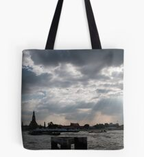 Enjoying Sunlight beside the River in Bangkok Tote Bag