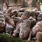 Lost Heads in the Terracotta Museum in Chiang Mai by Clara Go (missatgerebut)