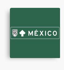 Mexico City, Highway Sign, Mexico Canvas Print