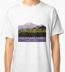 Mount Kilimanjaro Souvenir Design, in Vintage Travel Poster Style Classic T-Shirt