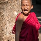 Laughing young monk in Myanmar by Clara Go (missatgerebut)