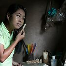 Each Morning ritual in every Myanmar House: Thanaka! by Clara Go (missatgerebut)