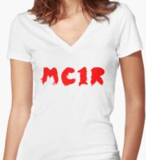 MC1R Women's Fitted V-Neck T-Shirt