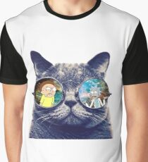 Rick and Morty Cat Graphic T-Shirt