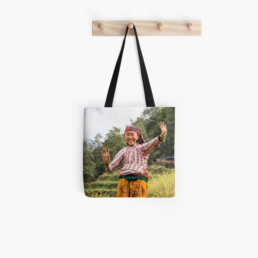 Lovely Aunty Dancing in Gyachchok (Gorkha district) Tote Bag
