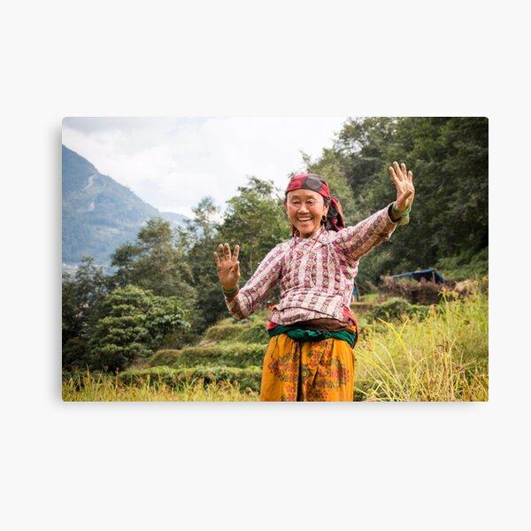Lovely Aunty Dancing in Gyachchok (Gorkha district) Canvas Print