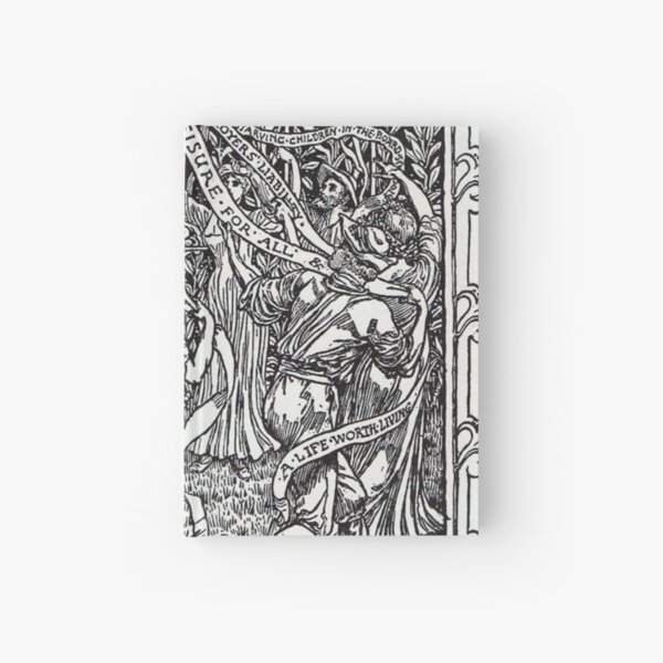 Walter Crane illustration: The Workers May Pole - May Day Beltane Ritual Hardcover Journal