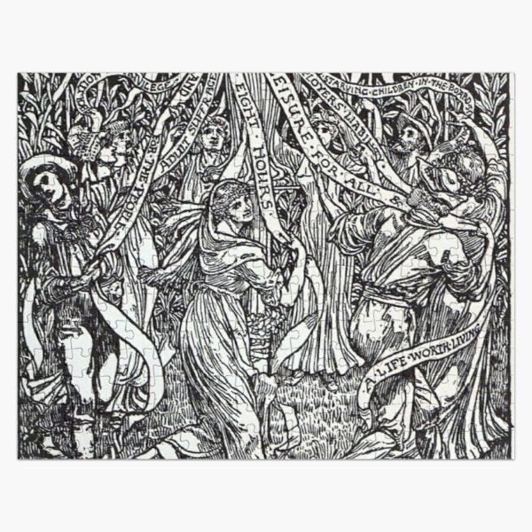 Walter Crane illustration:  The Workers May Pole - May Day Beltane Ritual   Jigsaw Puzzle