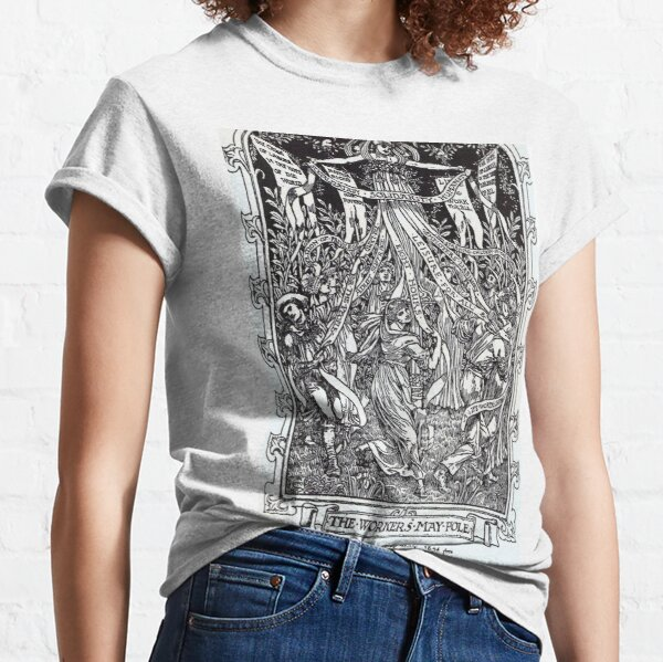 Walter Crane illustration: The Workers May Pole - May Day Beltane Ritual Classic T-Shirt