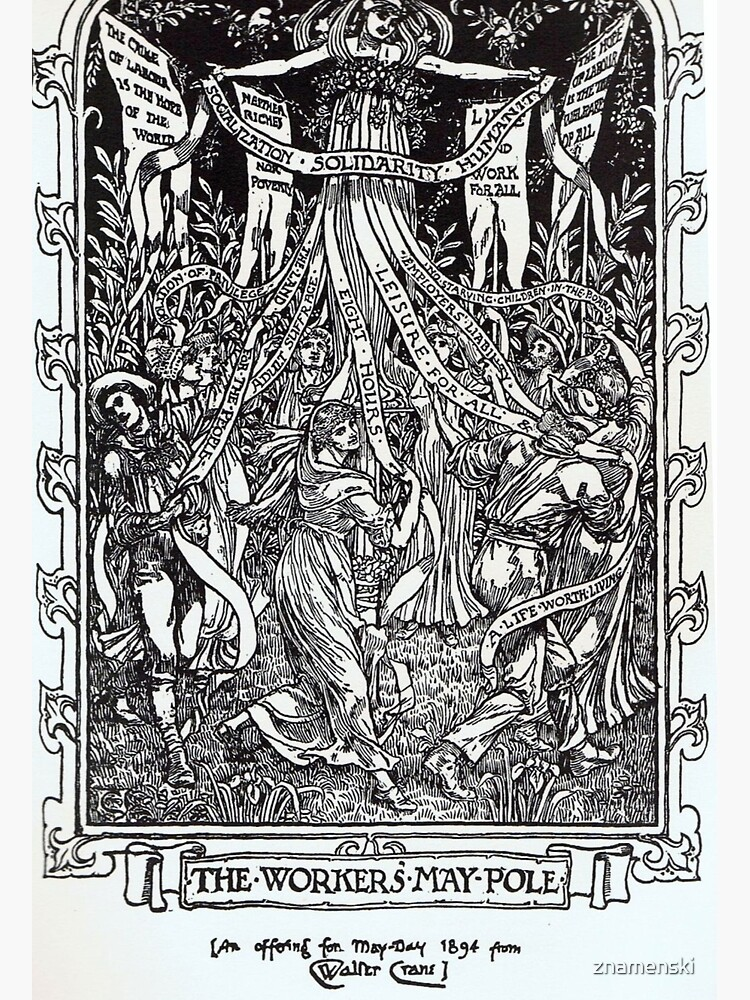 Walter Crane illustration:  The Workers May Pole - May Day Beltane Ritual   by znamenski