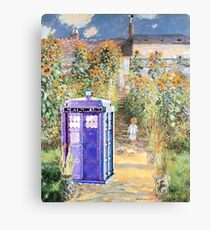 The Doctor in Monet's Garden Canvas Print