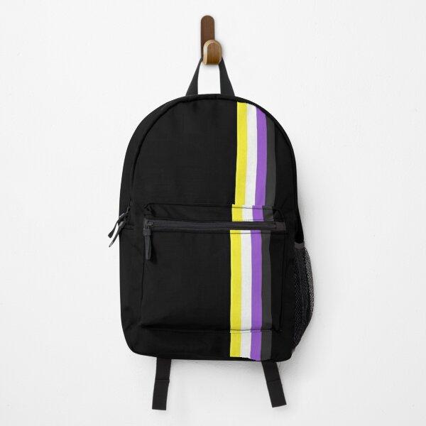 Minimal Nonbinary Stripe Backpack
