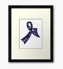 ALS Ribbon Framed Print