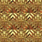 Gold Tiled Pattern by Lyle Hatch