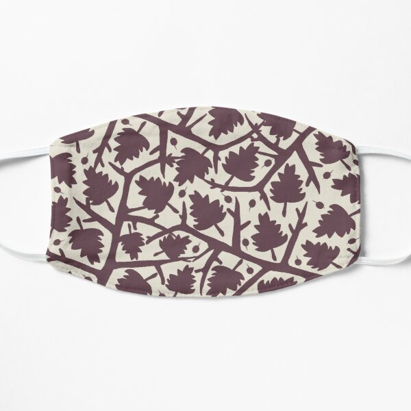 Hawthorn Tree pattern Flat Mask