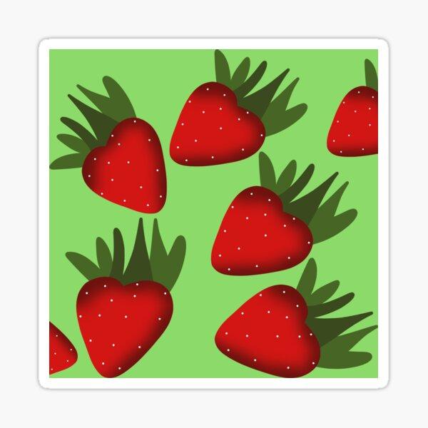 Strawberries Colorful Pattern Sticker