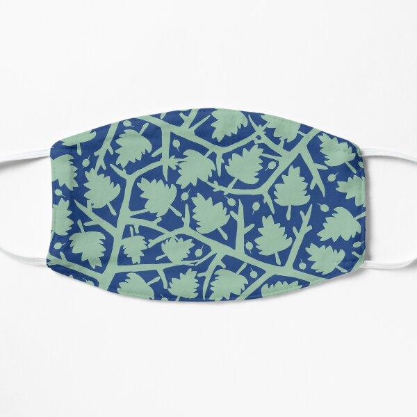 Hawthorn Tree pattern blue/mint Flat Mask
