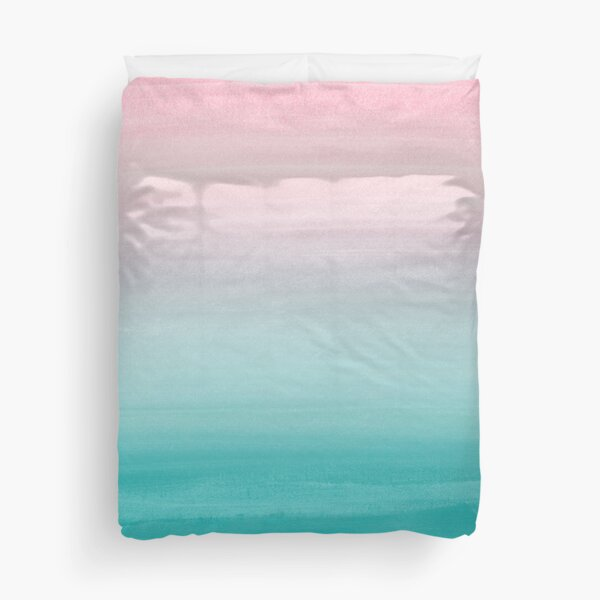 Touching Watercolor Abstract Beach Dream #4 #painting #decor #art  Duvet Cover