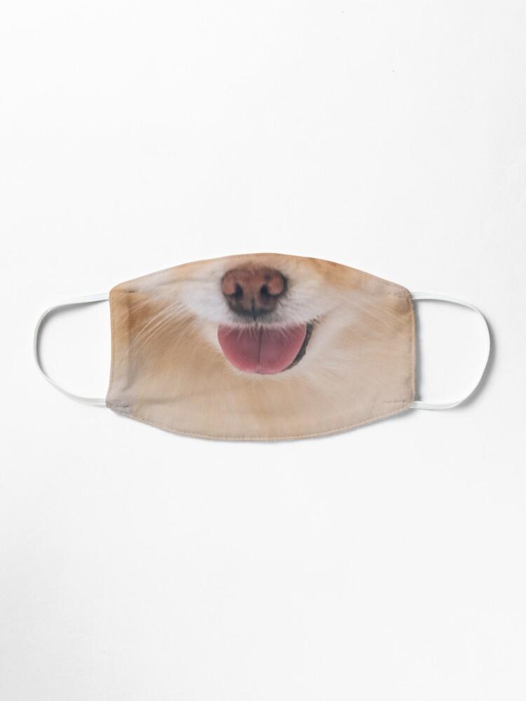 Alternate view of Cute Pomeranian Face Mask Mask