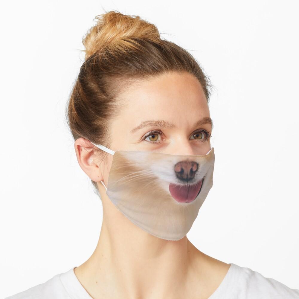 Cute Pomeranian Face Mask Mask