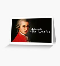 Mozart, the Genius Greeting Card