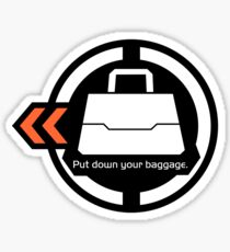 Put down your baggage. Sticker