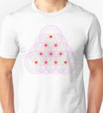 Tetractys - 90 Circles - Seed of Life Unisex T-Shirt
