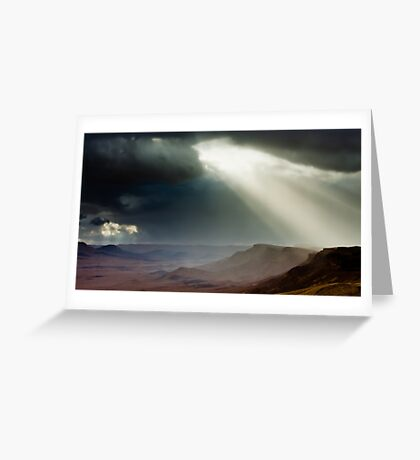 storm in mountains Greeting Card