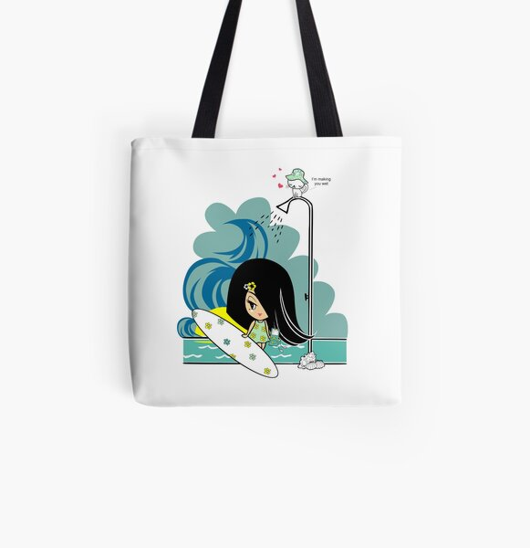 Making You Wet All Over Print Tote Bag