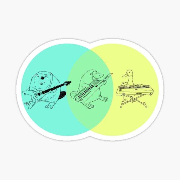 Keytar Platypus Venn Diagram Sticker