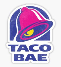 Taco Bae Parody T-Shirt Sticker