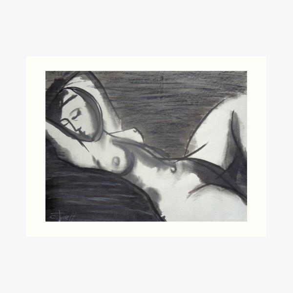 Reclining 3 - Female Nude Art Print