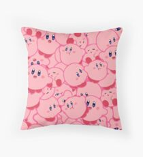 Kirby Pattern Vectored Throw Pillow