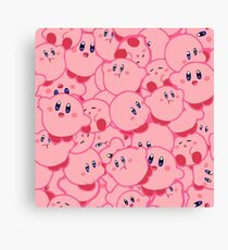 Kirby Pattern Vectored Canvas Print