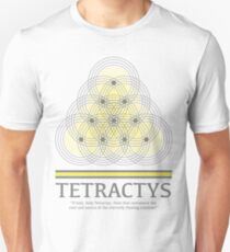 Tetractys - Gray and Yellow Unisex T-Shirt