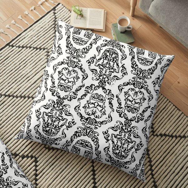 Imperial Mural White Floor Pillow