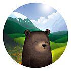 Cute bear in the wilderness by skrich