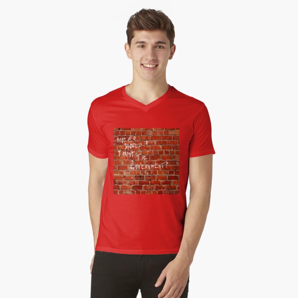 Die Wand Pink Floyd T-Shirt mit V-Ausschnitt