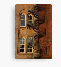 Red Brick Building Canvas Print
