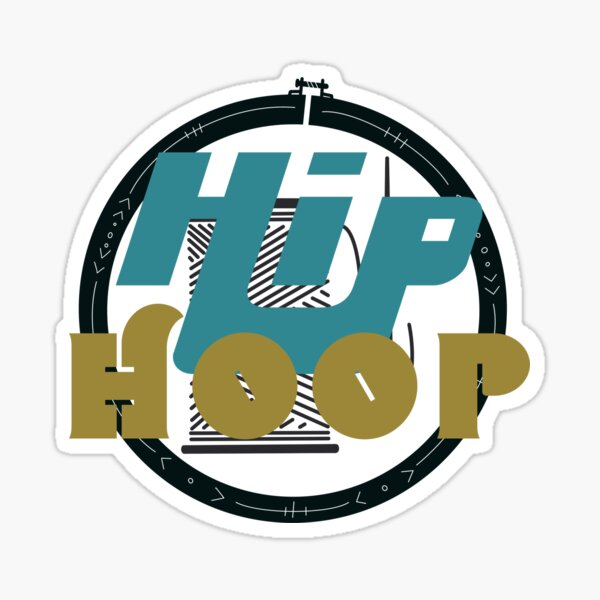 Hip Hoop pun funny tee hip hop sewing embroidery craft graphic Sticker