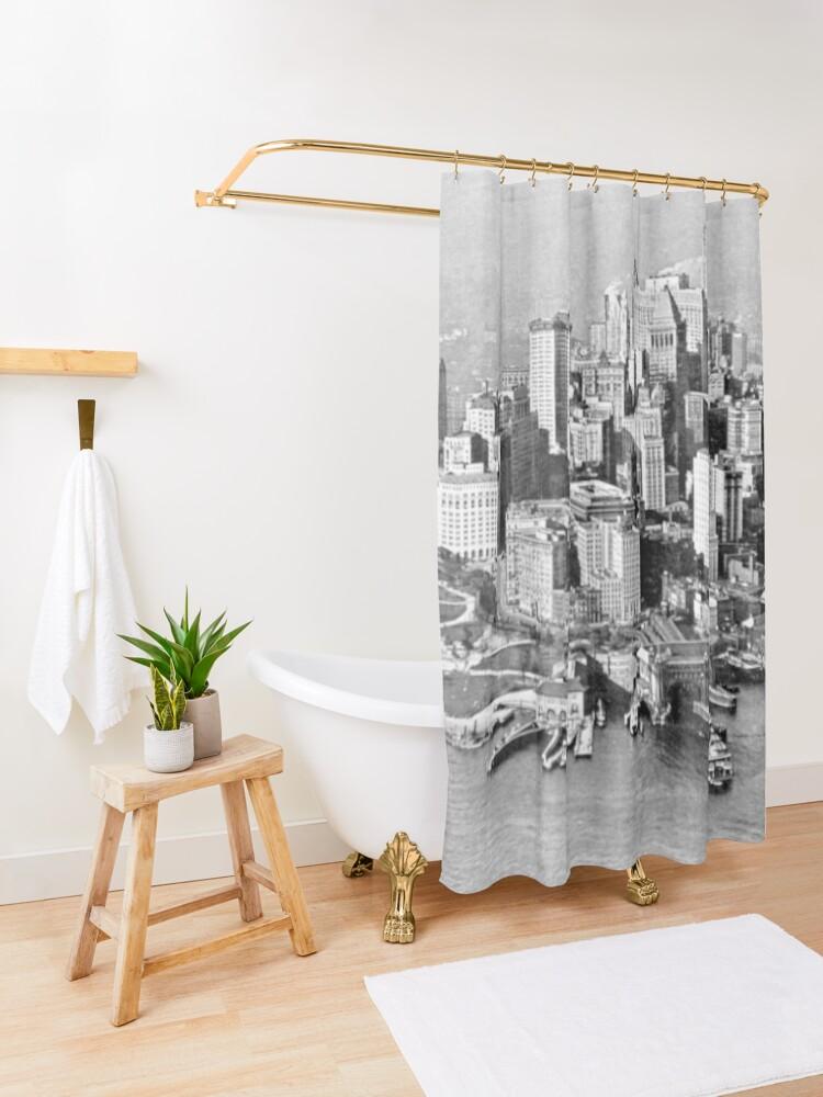 Alternate view of New York Shower Curtain