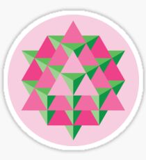 64 Tetrahedron Grid Sticker