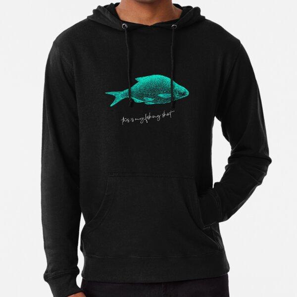 Fishing Carp Fisherman Gift Youth /& Mens Sweatshirt Wishin/' I Was Fishin/'